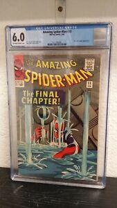 1966 MARVEL COMICS AMAZING SPIDER-MAN #33 CGC GRADED 6.0 DR. CURT CONNERS APP