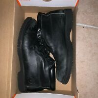 Timberland Hi Top Premium Leather Boots Mens 12 Black work boot waterproof