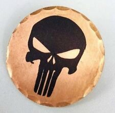 Punisher Skull Forged Copper Golf Ball Marker by Sunfish
