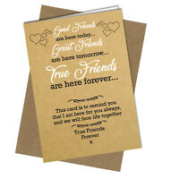 #697 Funny FRIENDSHIP CARD Best Friends Birthday Xmas Thank you Greeting Card