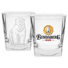 125405 BUNDABERG BUNDY RUM BEAR 285ML SET OF 2 SPIRIT GLASSES ALCOHOL DRINKING