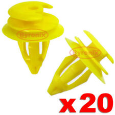 BMW FRONT DOOR PANEL CARD TRIM CLIPS INTERIOR E39 5 series YELLOW X 20