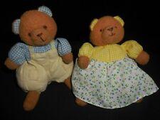 Vintage Russ Brown Baby Boy & Girl Bear Set