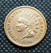 1880 Indian Head Cent   EXTRA FINE to ALMOST UNCIRCULATED