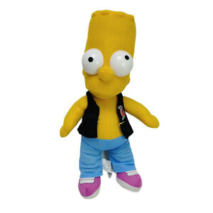 Bart Simpson Party Posse  Doll Plush Toy Soft Stuffed Washed Clean 26cm 2006