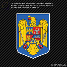 Romanian Coat of Arms Sticker Decal Self Adhesive Vinyl Romania flag ROU RO
