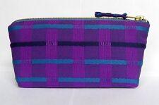 Vintage Seventies Cosmétiques Sac à main à fermeture éclair 70 S Make Up sac mauve bleu électrique doublée