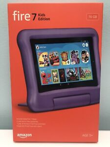 AMAZON FIRE 7 KIDS EDITION PURPLE TABLET 7-IN. DISPLAY 16 GB , 9TH EDITION, NEW