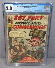 SGT. FURY AND HIS HOWLING COMMANDOS #1 Nick Fury 1st app CGC 2.0 GD Marvel 1963
