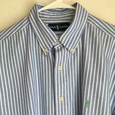 Men's Polo-Ralph Lauren, Long Sleeve Button Down Shirt, Pony Logo, Cotton, XL