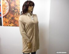 OAKWOOD Damen Kleid LIKE Aus Ziegenveloursleder, Khaki, Größe L, NEU, TA-003