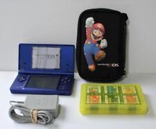 Nintendo DSi Launch Edition Matte Blue System w/case,power,18 games Mario,Zelda