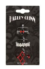 DC Comics Harley Quinn 3 Piece Ring Set Size 7 Gift New With Tags!