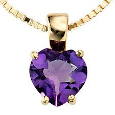 Echtschmuck-Halsketten & -Anhänger mit Amethyst und Herz für Damen