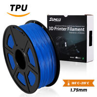 SUNLU TPU/Flexible 3D Printer Filament 1.75mm 1KG/2.2lb Spool Blue Elastic TPU