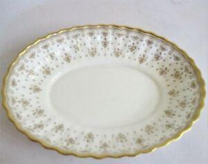 Beautiful Spode Bone China Sweet Dish - Fleur De Lys Gold