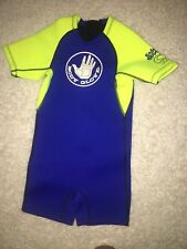 BODY GLOVE wetsuit Kids 2-4 Years Spring suit Pro Short 2mm Blue Yellow C2