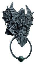 Dragon Head Door Knock.Knocker. Gothic Dragon Door Cast Iron Finished. Medieval.