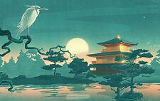 Incorniciato stampa-tradizionale immagine orientali (POSTER GIAPPONESE CINESE ASIATICO ART)
