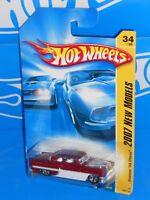 Hot Wheels 2007 New Models #34 Custom '53 Chevy Dark Red & White w/ 5SPs