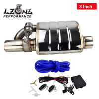 """3.0"""" Tip On Single Exhaust Muffler Valve Cutout With Wireless Remote Controller"""