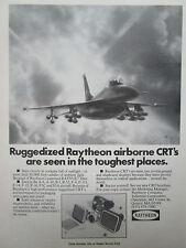 4/1980 PUB RAYTHEON RUGGEDIZED AIRBORNE CRT RAYVUE FILTER F-16 ORIGINAL AD