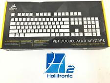 CORSAIR GAMING PBT Double-shot Keycaps Full 104/105-Keyset — White *NEW*