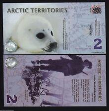 ARCTIC $2 NEW 2010 NORWAY POLAR BEAR SEAL PUP UNC POLYMER NOTE LOT 10 PCS BILLS