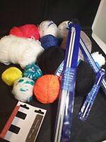 Knitting bundle wool, knitting needles, crochet hook wool needle  starter kit F