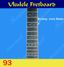 Free Shipping, Ukulele Part - Fretted  Fretboard w/ Abalone Inlay (G-93)