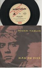 "QUEEN   TAYLOR    Rare 1984 Aust Promo Only 7"" OOP Rock P/C Single ""Man On Fire"""