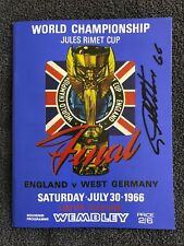 1966 World Cup Programme signed by Sir Geoff Hurst - The Hatrick Hero