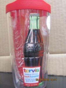 Coca-Cola Tervis 16 oz Tumbler with Lid /Coke Bottle- NEW-FREE SHIPPING
