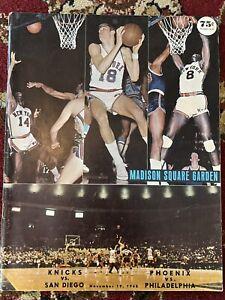 1968 New York Knicks vs San Diego Rockets and Suns vs 76ers Basketball Program