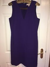 *NWOT* MICHAEL KORS Purple Midi Pencil Dress with MK Gold Chain Size 12 UK
