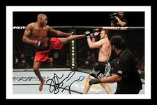 JON JONES AUTOGRAPHED SIGNED & FRAMED PP POSTER PHOTO
