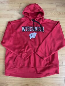 Wisconsin Badgers Hooded Sweatshirt Mens Size XXL Hoodie