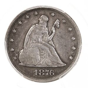 1876 Twenty Cent Piece 20C PCGS Certified VF30 Very Fine Graded Silver Coin