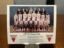 New listing 1997-98 Chicago Bulls Team 8x10 NBA Champions Jordan Pippen Rodman Last Dance