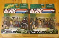GI JOE Valor Vs Venom Variants! DUKE/COBRA COMMANDER! Both Red & Gold! NIP!