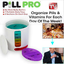 New Arrive Pill Pro PILLPRO AS SEEN ON TV Compact Organize Pill Vitamin Storage
