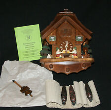 Original BLACK FOREST Hand Carved CUCKOO Clock BEER Drinking Made In GERMANY