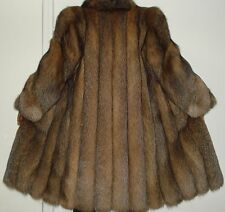 Maximilian Bloomingdale Crystal Fox Fur Coat Size 6-8 FREE SHIP Excellent Condit