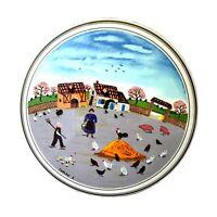 "Villeroy & Boch Livestock Design Naif Round Porcelain Folk Art 6"" Trinket Box"