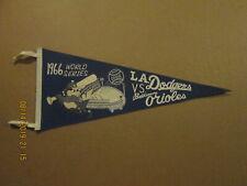 MLB Dodgers vs. Orioles Vintage 1966 World Series Team Logo Baseball Pennant