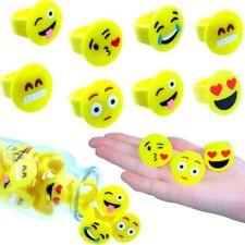 German Trendseller® - 6 x Emoji Ringe - Kinder Mix ┃ NEU ┃  Kindergeburtstag