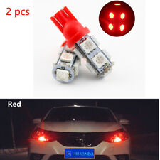 2Pcs  Red T10 9 SMD 5050 194 2825 501 Bulb Car LED Wedge Light Plate Licen