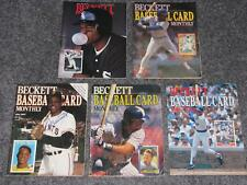 5 Beckett Baseball Card Monthly Magazines Various Issues 1987 - 1993 Price Guide