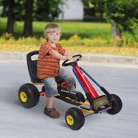 Go Kart Coche a Pedales Acero con Freno Embrague Asiento Ajustable 122x60x70cm
