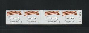 US EFO, ERROR Stamps: 2012 Forever Flags. Huge Die cut shift strip of 4. MNH